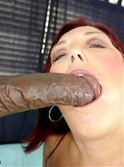 This redhead BBW babe had all the right stuff to entice Lucas, our resident chocolate lover man. Her huge natural titties and fat ass were more than enough to entice.