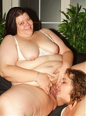 Horny fat women Margaret and Agnes suck a cock and lick twats in this racy mature threesome